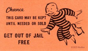 """Get out of jail free"" card"